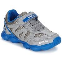 鞋子 男孩 球鞋基本款 Geox 健乐士 J MUNFREY B. A 灰色 / 蓝色