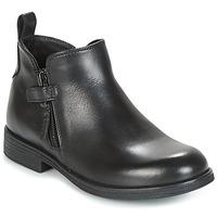 鞋子 女孩 短筒靴 Geox 健乐士 J AGATA C 黑色