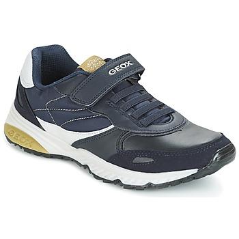 鞋子 男孩 球鞋基本款 Geox 健乐士 J BERNIE A 海蓝色 / 绿色