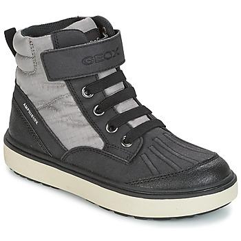 鞋子 男孩 高帮鞋 Geox 健乐士 J MATT.B ABX B 灰色 / 黑色