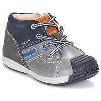 鞋子 男孩 高帮鞋 Geox 健乐士 B TOLEDO B. A 灰色 / 海蓝色