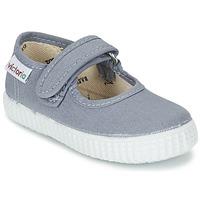 鞋子 女孩 平底鞋 Victoria 维多利亚 MERCEDES VELCRO LONA 灰色