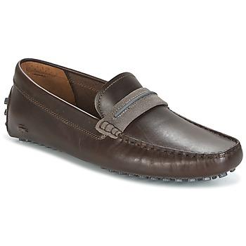 鞋子 男士 皮便鞋 Lacoste HERRON 棕色