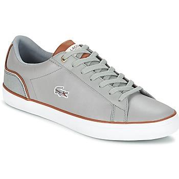 鞋子 男士 球鞋基本款 Lacoste LEROND 3 灰色 / 棕色