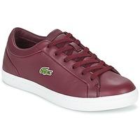鞋子 女士 球鞋基本款 Lacoste STRAIGHTSET LACE 波尔多红