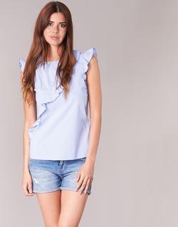 衣服 女士 女士上衣/罩衫 Morgan MARFIZ 蓝色 / 白色