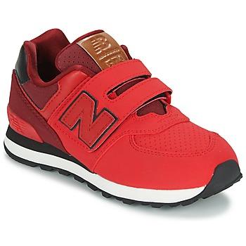 鞋子 儿童 球鞋基本款 New Balance新百伦 KV575 红色 / 黑色