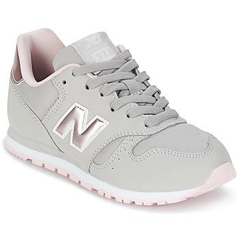 鞋子 女孩 球鞋基本款 New Balance新百伦 KJ374 灰色 / 玫瑰色