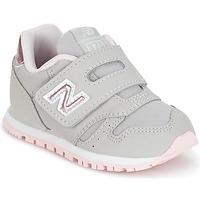 鞋子 女孩 球鞋基本款 New Balance新百伦 KV373 灰色 / 玫瑰色