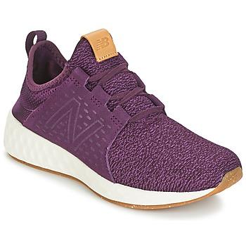 鞋子 女士 跑鞋 New Balance新百伦 CRUZ 波尔多红