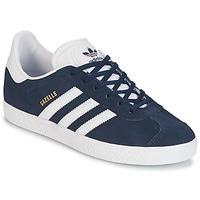 鞋子 儿童 球鞋基本款 Adidas Originals 阿迪达斯三叶草 GAZELLE J 海蓝色