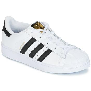 鞋子 儿童 球鞋基本款 Adidas Originals 阿迪达斯三叶草 SUPERSTAR 白色 / 黑色