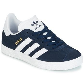 鞋子 儿童 球鞋基本款 Adidas Originals 阿迪达斯三叶草 Gazelle C 海蓝色