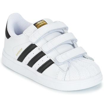 鞋子 儿童 球鞋基本款 Adidas Originals 阿迪达斯三叶草 SUPERSTAR CF I 白色 / 黑色