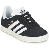 鞋子 儿童 球鞋基本款 Adidas Originals 阿迪达斯三叶草 GAZELLE C 黑色