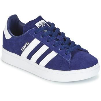 鞋子 男孩 球鞋基本款 Adidas Originals 阿迪达斯三叶草 CAMPUS C 海蓝色