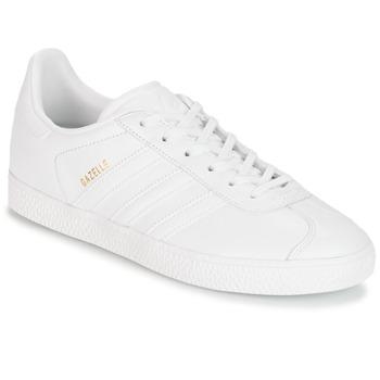 鞋子 儿童 球鞋基本款 Adidas Originals 阿迪达斯三叶草 GAZELLE J 白色