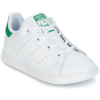 鞋子 儿童 球鞋基本款 Adidas Originals 阿迪达斯三叶草 STAN SMITH I 白色 / 绿色