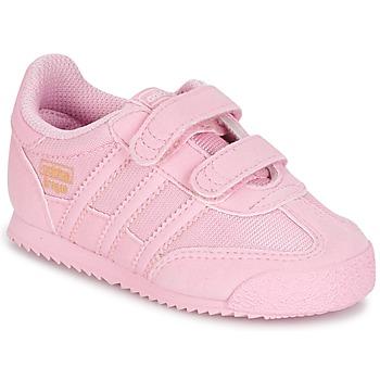 鞋子 女孩 球鞋基本款 Adidas Originals 阿迪达斯三叶草 DRAGON OG CF C 玫瑰色