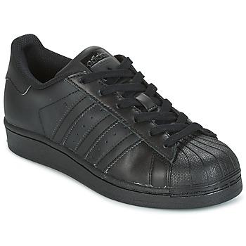鞋子 儿童 球鞋基本款 Adidas Originals 阿迪达斯三叶草 SUPERSTAR 黑色