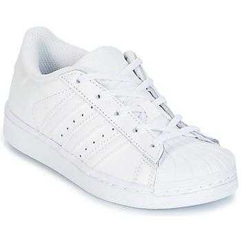 鞋子 儿童 球鞋基本款 Adidas Originals 阿迪达斯三叶草 SUPERTSAR 白色