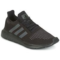 鞋子 儿童 球鞋基本款 Adidas Originals 阿迪达斯三叶草 SWIFT RUN J 黑色