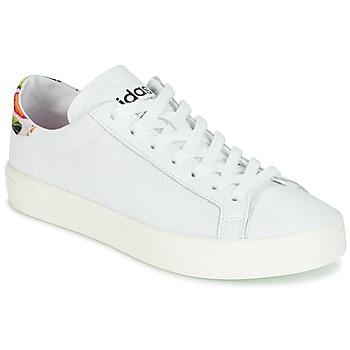 鞋子 女士 球鞋基本款 Adidas Originals 阿迪达斯三叶草 Court Vantage 白色 / 花