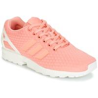鞋子 女士 球鞋基本款 Adidas Originals 阿迪达斯三叶草 ZX FLUX W 玫瑰色 / 白色