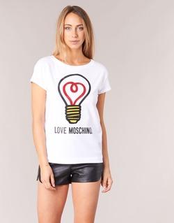 衣服 女士 短袖体恤 Love Moschino W4F3038E1512 白色