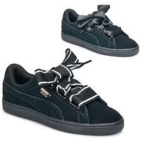 鞋子 女士 球鞋基本款 Puma 彪马 Basket Heart Satin 黑色