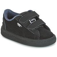 鞋子 男孩 球鞋基本款 Puma 彪马 SUEDE BATMAN V INF 黑色 / Batman