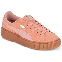 鞋子 女士 球鞋基本款 Puma 彪马 Suede Platform Core Gum 玫瑰色