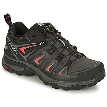 鞋子 女士 登山 Salomon 萨洛蒙 X ULTRA 3 GTX® 黑色 / 红色