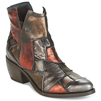 鞋子 女士 短筒靴 Dkode JOELLE-MULTICOLORE-029 棕色