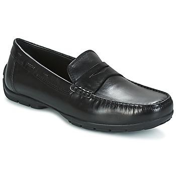 鞋子 男士 皮便鞋 Geox 健乐士 U MONET W 2FIT 黑色