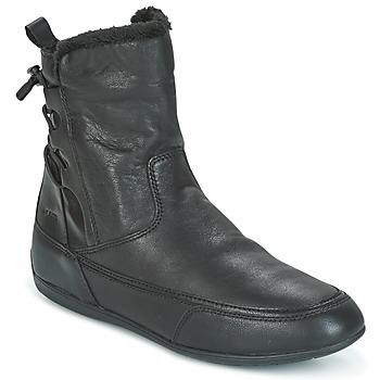 鞋子 女士 短筒靴 Geox 健乐士 D NEW MOENA 黑色