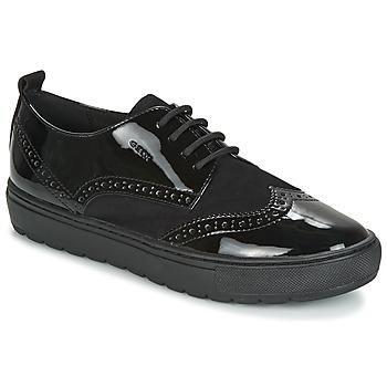 鞋子 女士 德比 Geox 健乐士 D BREEDA 黑色
