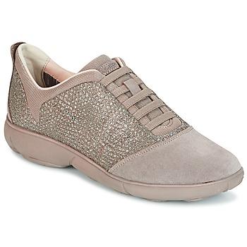 鞋子 女士 球鞋基本款 Geox 健乐士 D NEBULA 灰褐色