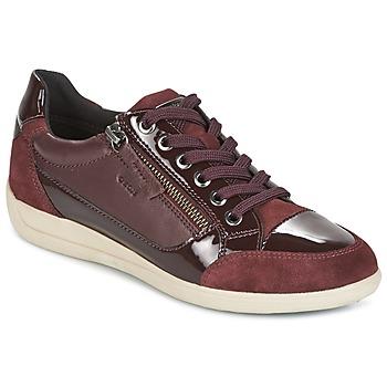 鞋子 女士 球鞋基本款 Geox 健乐士 D MYRIA 波尔多红