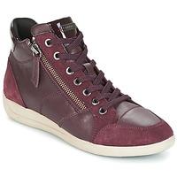 鞋子 女士 高帮鞋 Geox 健乐士 D MYRIA 波尔多红