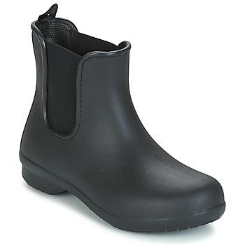鞋子 女士 短筒靴 crocs 卡骆驰 CROCS FREESAIL CHELSEA 黑色