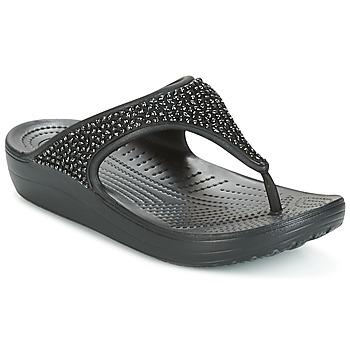 鞋子 女士 人字拖 crocs 卡骆驰 SLOANE 黑色