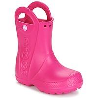 鞋子 女孩 雨靴 crocs 卡骆驰 HANDLE IT RAIN BOOT 玫瑰色