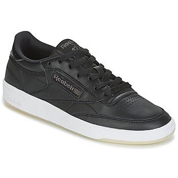 鞋子 女士 球鞋基本款 Reebok Classic CLUB C 85 LTHR 黑色