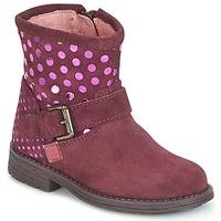 鞋子 女孩 短筒靴 Agatha Ruiz de la Prada 阿嘉莎·鲁兹·德 VAGABUNDA AGATHA 波尔多红
