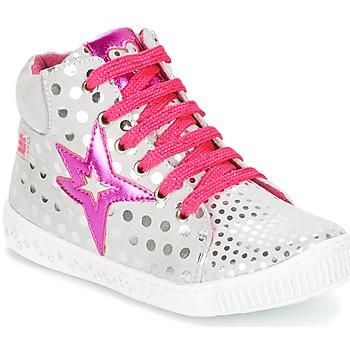 鞋子 女孩 高帮鞋 Agatha Ruiz de la Prada 阿嘉莎·鲁兹·德 FLOW 银色