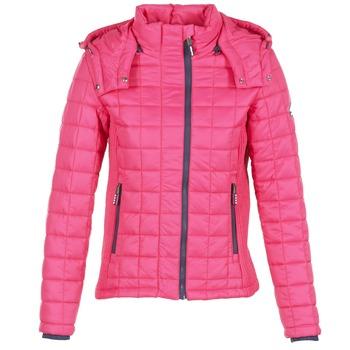 衣服 女士 羽绒服 Superdry 极度干燥 FUJI BOX QUILTED 玫瑰色
