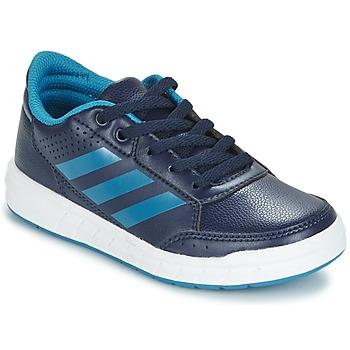鞋子 男孩 球鞋基本款 adidas Performance 阿迪达斯运动训练 ALTASPORT K 海蓝色