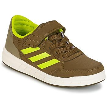 鞋子 男孩 球鞋基本款 adidas Performance 阿迪达斯运动训练 ALTASPORT EL K 卡其色 / 黄色