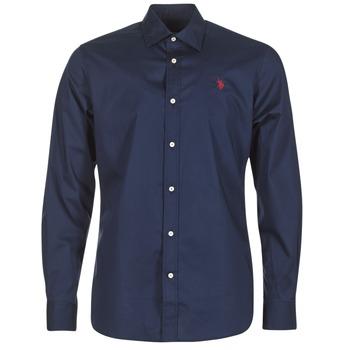 衣服 男士 长袖衬衫 U.S Polo Assn. 美国马球协会 ZED 海蓝色